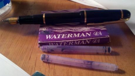 Refilling Waterman Fountain Pen my Waterman Fountain Pen