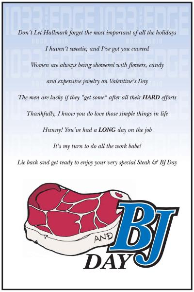 Steak blowjob online card