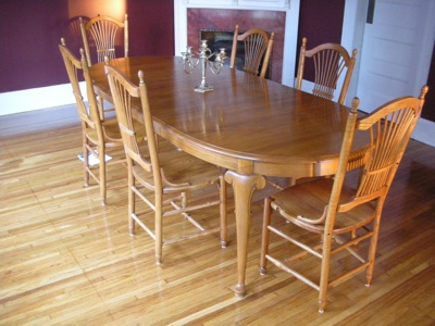 The new oak dinning room table written by paul on - Dining room furniture buffalo ny ...