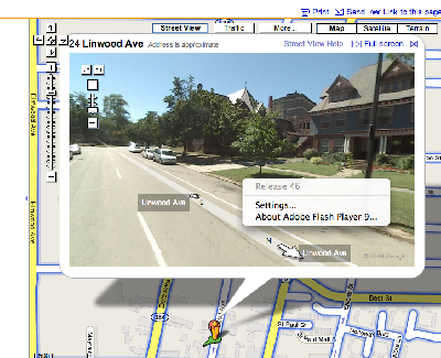 Google Maps Street View and Flash