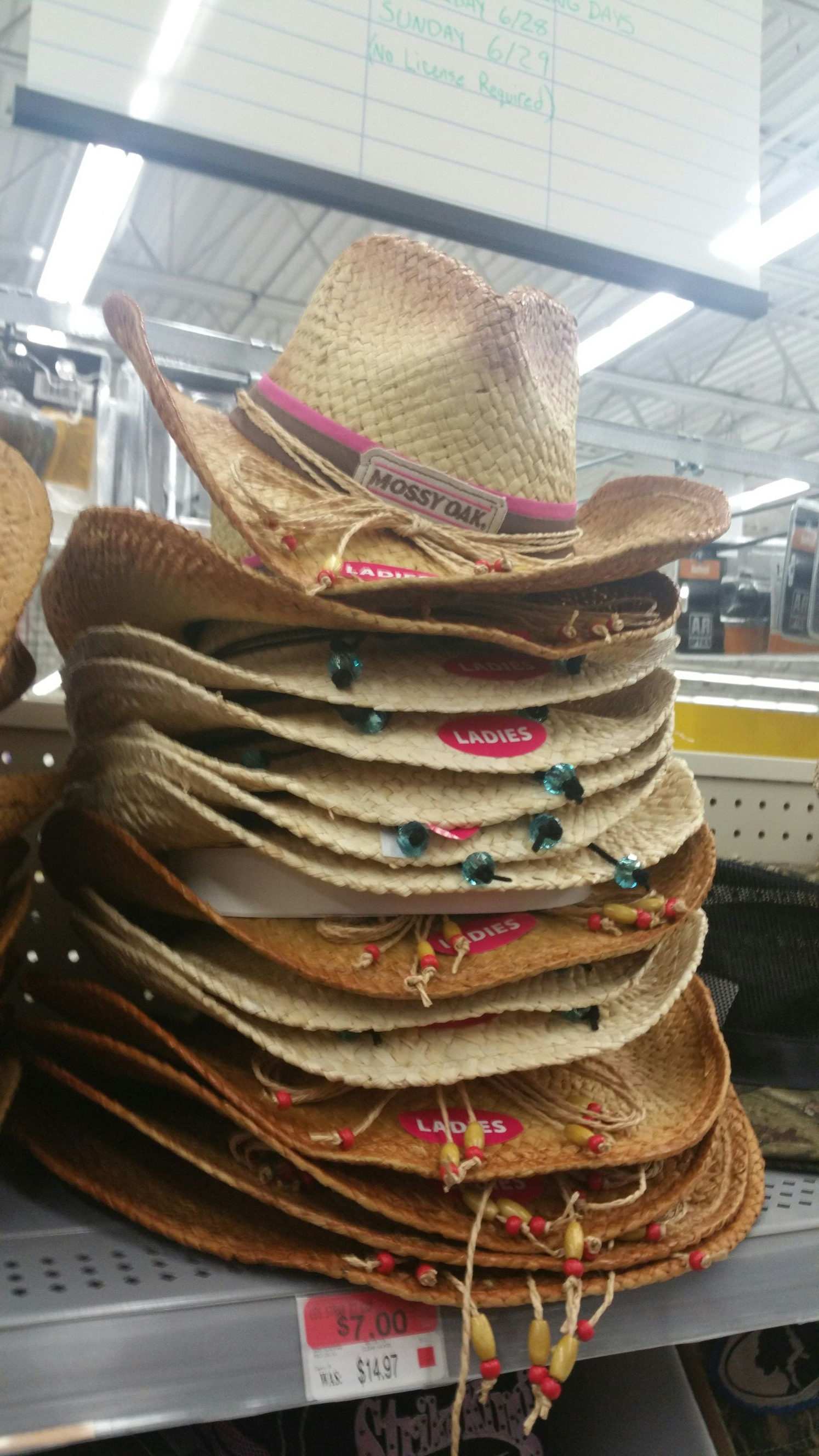 Ladies Only Hats at Walmart
